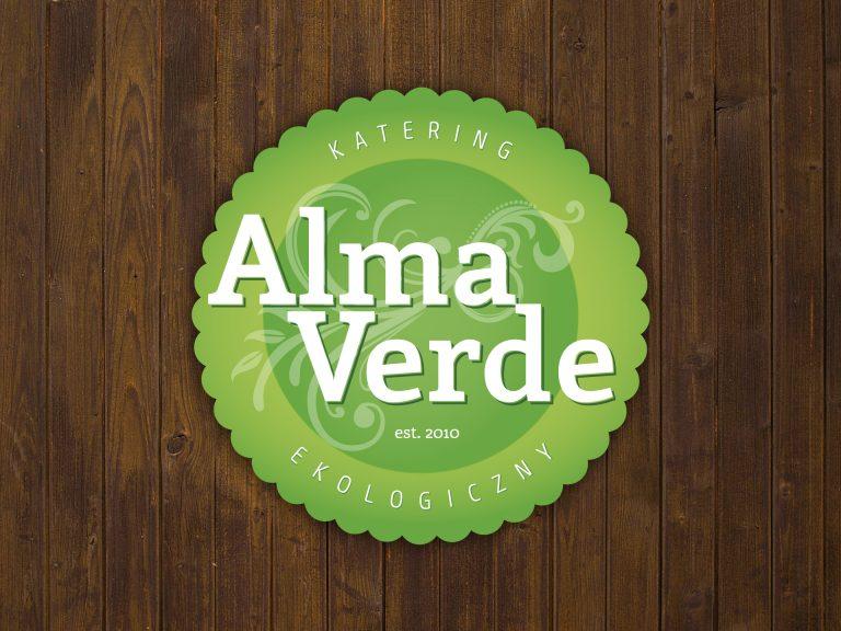Alma Verde – projekt logo firmy kateringowej