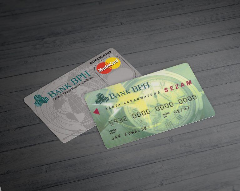 Bank BPH SA – projekty kart bankomatowych