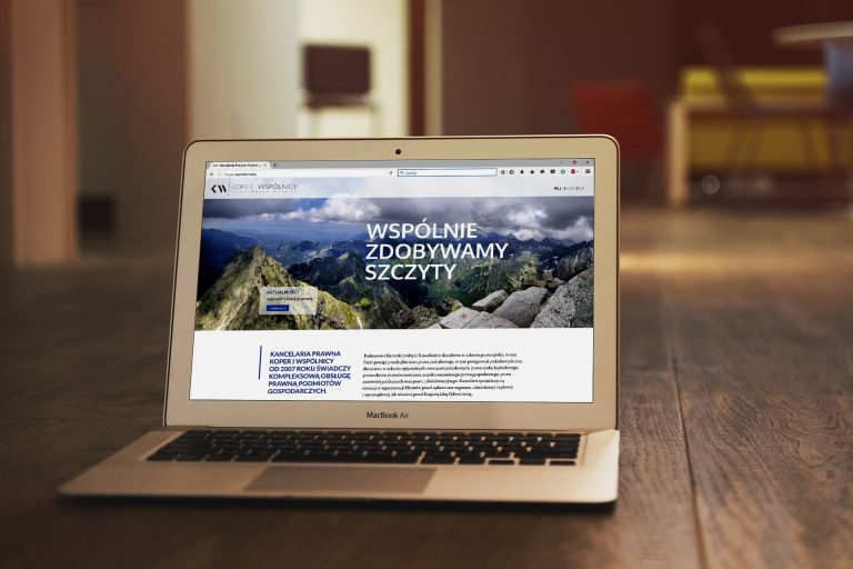 Kancelaria Prawna Koper iWspólnicy – projekt strony WWW