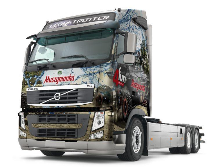 Muszynianka – propozycja grafiki nasamochodzie ciężarowym zepołu rajdowego.