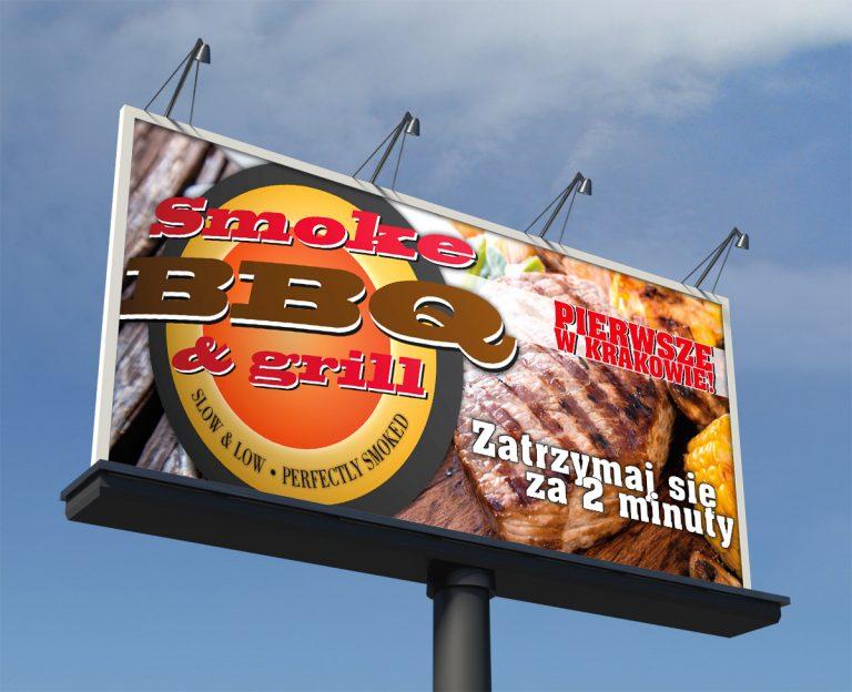 Smoke BBQ – Billboard promujący restaurację
