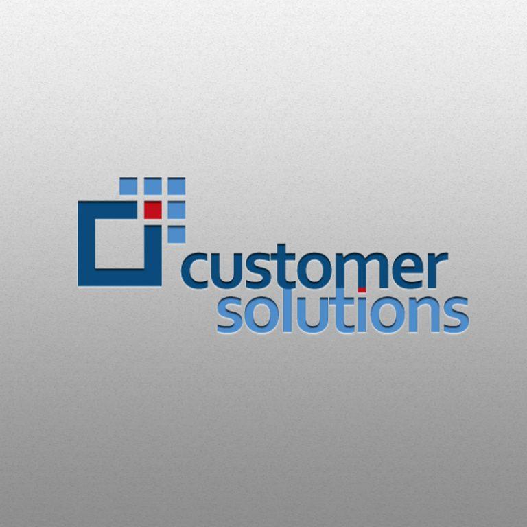 Customer Solutions – projekt logo iCorporate Identity dlafirmy konsultingowej