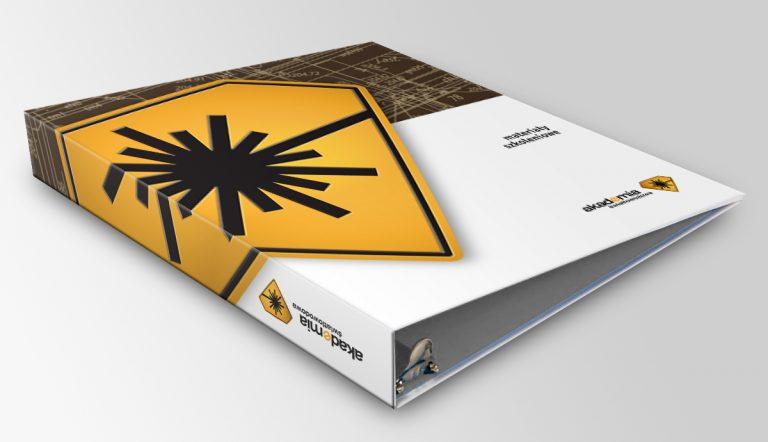 Akademia Światłowodowa – projekt segregatora firmy szkoleniowej