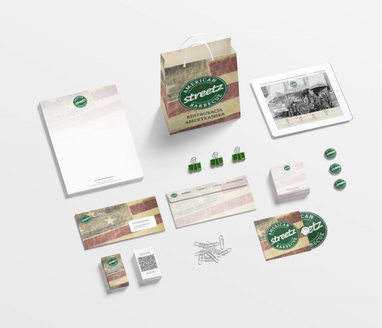 Streetz American BBQ – projekty Corporate Identity