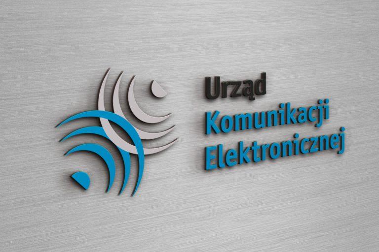 Urząd Komunikacji Elektronicznej – wizualizacja zaprojektowanego logo