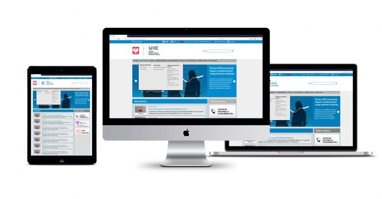 Urząd Komunikacji Elektronicznej – projekt landing page