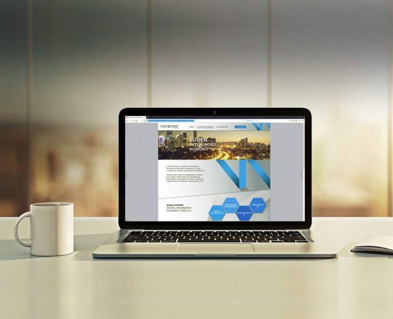 Projekt landing page portalu sprzedażowego B2B