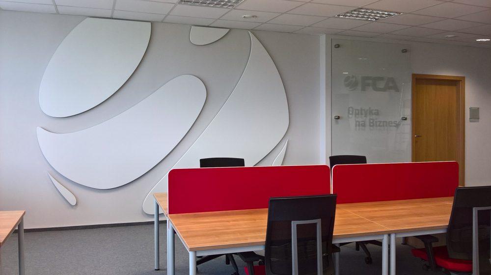 FCA - Aranżacja biura wWarszawie (poza meblami)