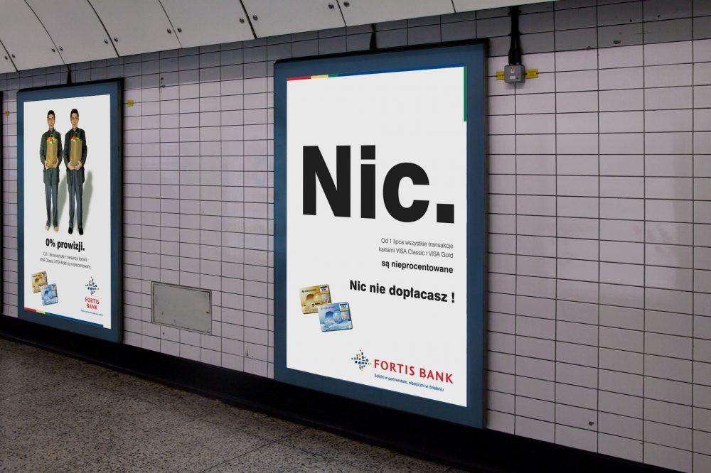 Fortis Bank – projekty plakatów dokampanii