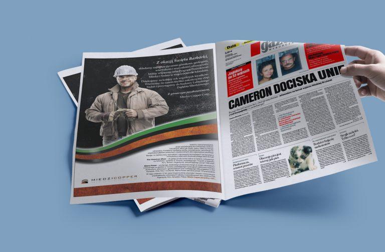 MedziCopper – projekt reklamy prasowej wkampanii wizerunkowej