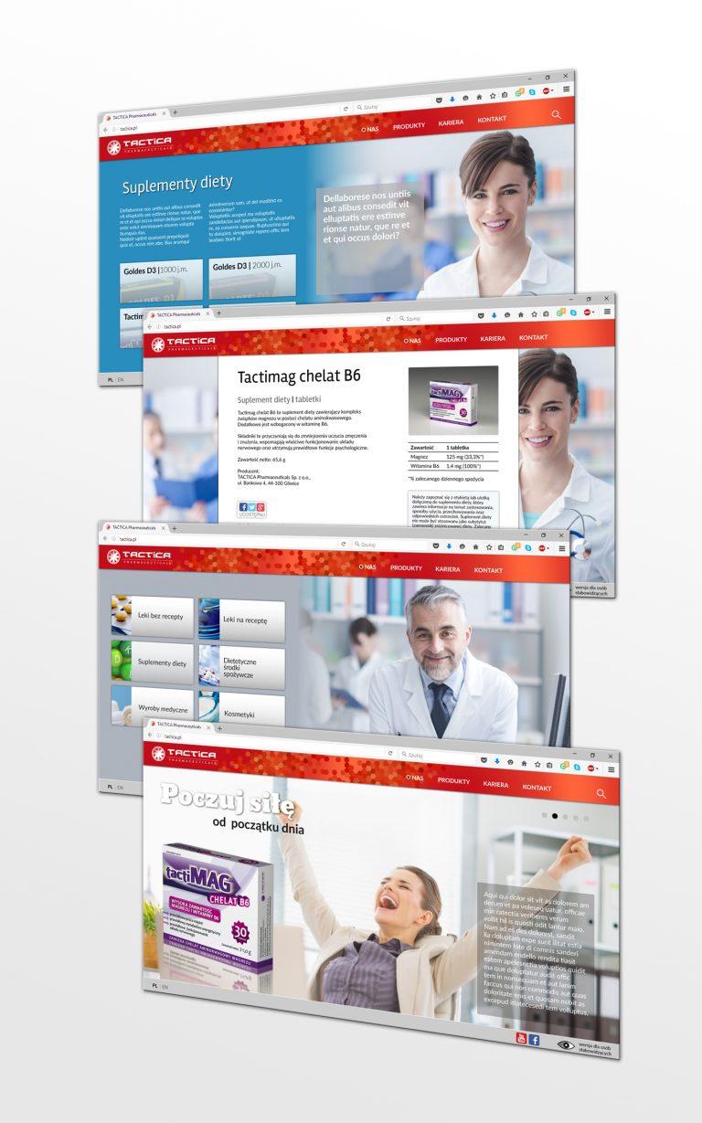 Tactica Pharmaceuticals – projekt witryny internetowej